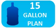 15-Gallon Bottled Water Delivery Plan