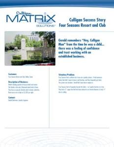 Culligan Texas Four Seasons Resort Club Case Study